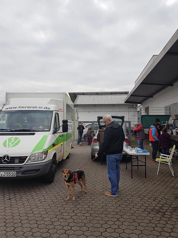 Pfote drauf-Tierhilfe e.V. Trier, mobiler Tierarztstand